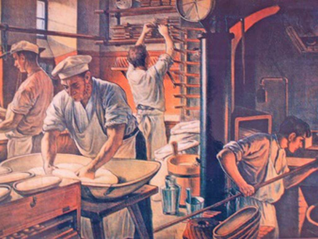 Painting of the dovedale bakery